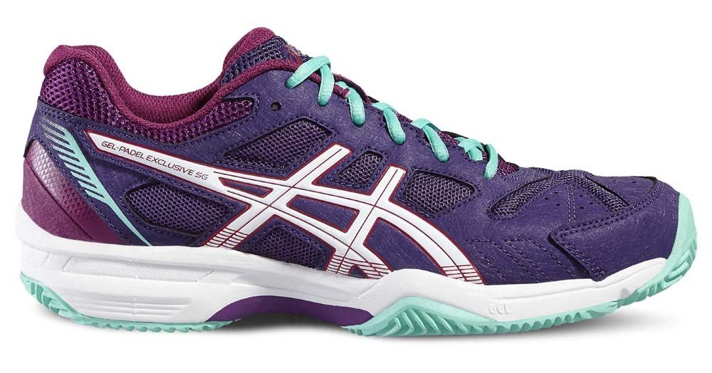ASICS Gel Padel Exclusive 4 SG Lila Woman E565N 3338: Amazon.es ...