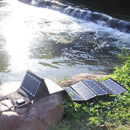 KINGSOLAR™ Highest Efficient 60W Foldable Solar Panel Portable Solar Charger Dual Output (USB Port + DC Output) by KINGSOLAR™ (Image #7)