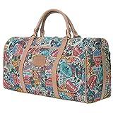 Disney Vintage Oversized Luggage Mickey Mouse Weekend Bag , Brown