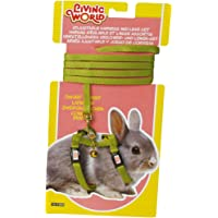 Living World Adjustable Harness and Lead Set for Rabbit, Green