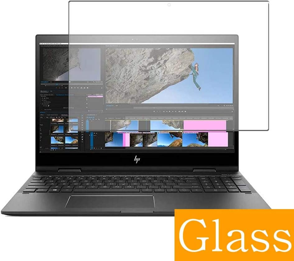 """Synvy Tempered Glass Screen Protector for HP Envy x360 15-cp0000 2019 15.6"""" Visible Area Protective Screen Film Protectors 9H Anti-Scratch Bubble Free"""
