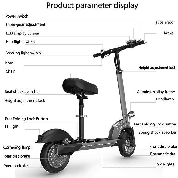 Amazon.com: VenusCRUISER X30 - Patinete eléctrico plegable ...
