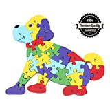 Alphabet Jigsaw Puzzle, Casety Wooden Animal Letters Numbers Block Toys for Preschool Children Boys Girls Kids to develop intellectual powers - Giraffe