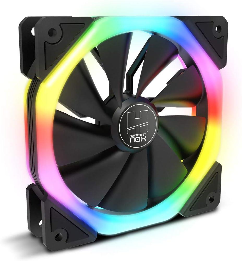 Nox S-Fan - NXHUMMERSFAN - Ventilador Fan ARGB Dual: Amazon.es ...