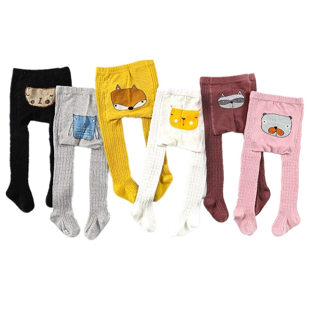Beide 6 Pcs Baby Boys Girls Cable Knit Tights Cartoon PP Pants Leggings (1-2T, pp-6pcs mix) by Beide