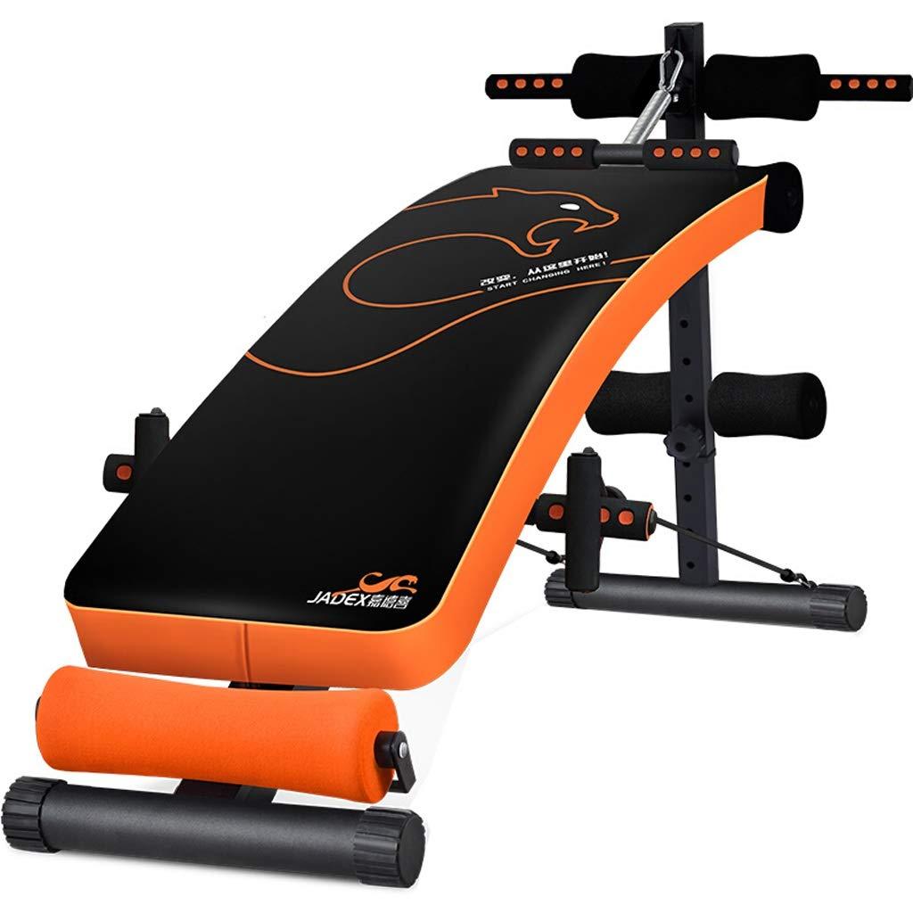 Flashing FL- Verstellbare Sit-up Bank, Ultimative Fitnessgeräte, ergonomisches Design, über 180 ° Dehnung, 360 ° Drehung