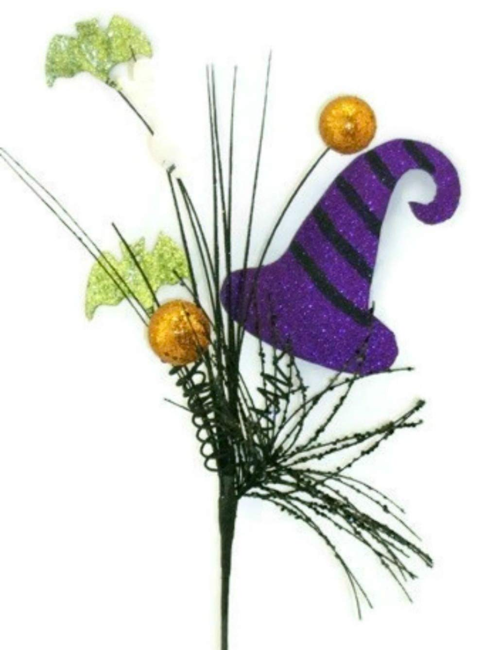 Liberty Floral Glitter Witch Hat Floral Spray - Halloween Decorative Filler