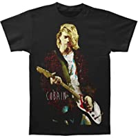 FEA Mens Kurt Cobain Red Jacket Guitar Photo Mens T-Shirt T-Shirt
