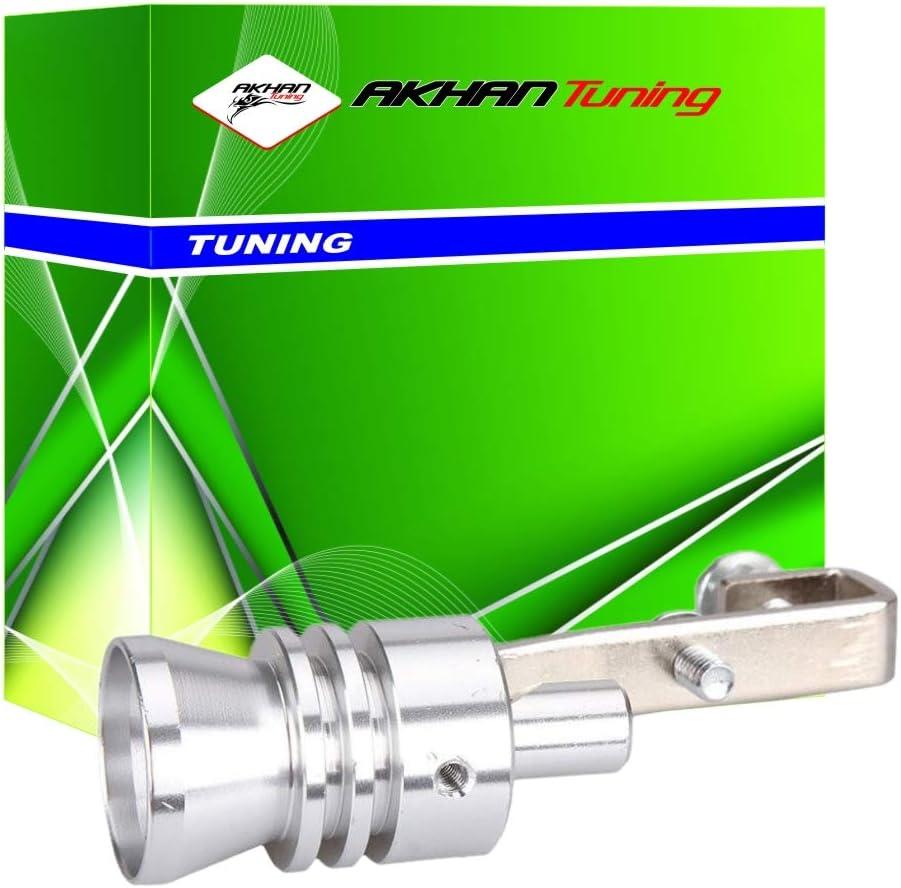 60071 - Turbo efecto silbato silbido de escape para los tubos de escape 32-43 mm, sonido de un motor turbo silenciador, Blow-off Válvula Simulador ...