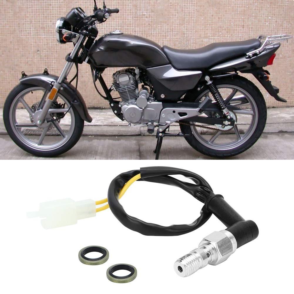 Type B Interruttore freno idraulico M10x1.25 Tubo olio universale per moto Pompa idraulica Interruttore luce pressione freno posteriore rinforzato
