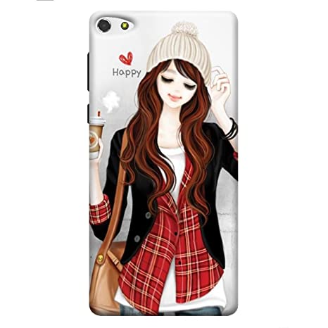 best sneakers be9a4 3a57b DRaX Girl Printed Soft Silicone Back Cover for Gionee F103 Pro