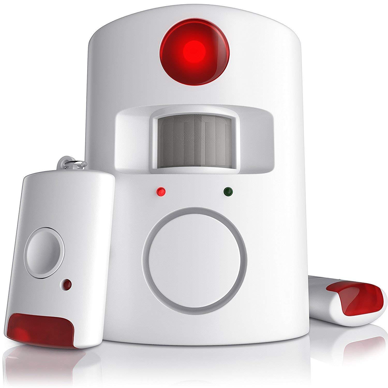 CSL Incluye 2 mandos a distancia 100dB Alarma de casa Alarma de sensor PIR Kit de sistema de alarma antirrobo inal/ámbrico por infrarrojos sistema de seguridad para el hogar