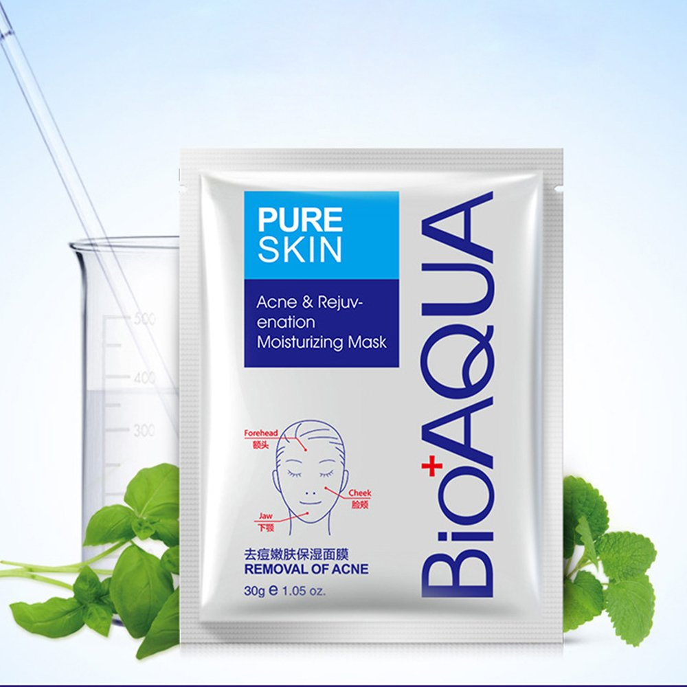 Buy Bioaqua PURE SKIN Anti Acne Cleanser Foam Mask Cream ...