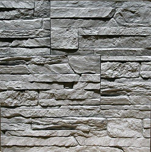 Sample Of Gypsum Stone-Look Wall Decor Tenerife Gray