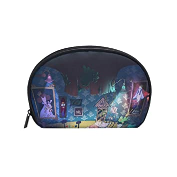 4d2ca5d54332 Bennigiry Alice in Wonderland Cosmetic Makeup Bag Organizer for Women Travel  Kit with Zipper Multifunction Toiletry