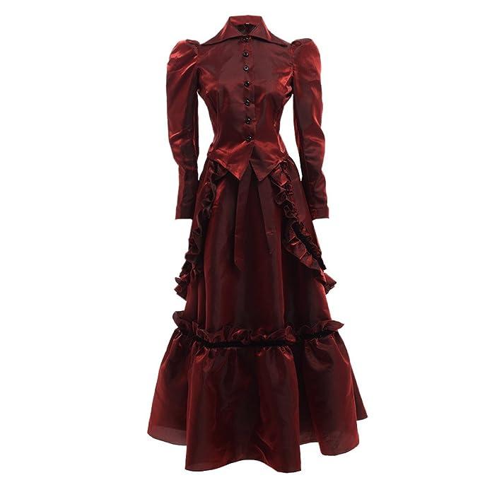 1900 Edwardian Dresses, Tea Party Dresses, White Lace Dresses Victorian Edwardian Dress Costume with Bustle Jacket and Skirt Suits $63.99 AT vintagedancer.com