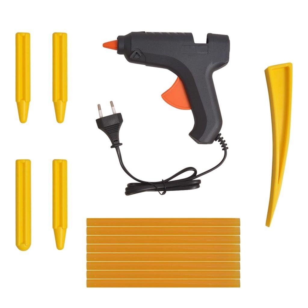 vidaXL 50-TLG Lackschadenfreier Ausbeulwerkzeug-Satz PDR-Werkzeug-Set Edelstahl