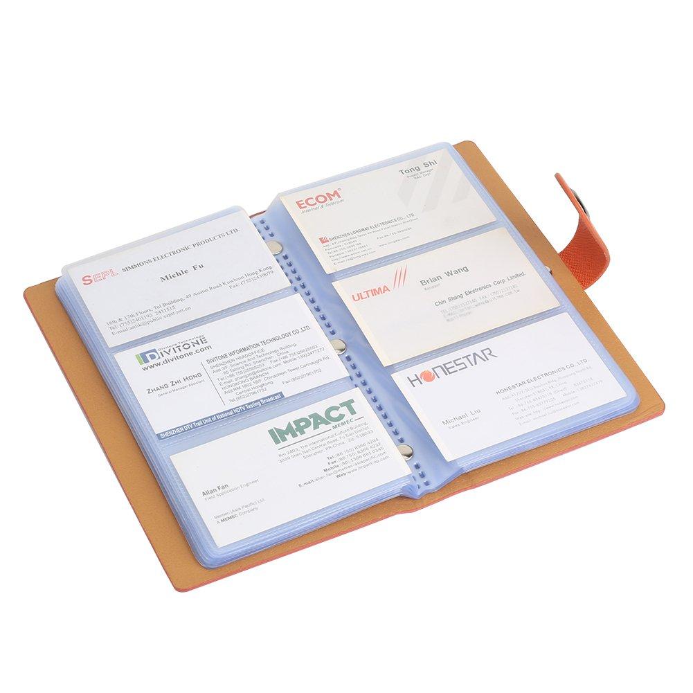 Tenn Well Classeur pour cartes de visite Fermeture magn/étique Orange 300/pochettes