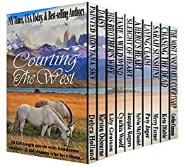 Courting the West: A Boxed Set of Ten Western Romances by [Holland, Debra, Osbourne, Kirsten, Graison, Lily, Woolf, Cynthia, Rogers, Jacquie, McDaniel, Sylvia, Jager, Paty, Farmer, Merry, Diablo, Keta, Clemmons, Caroline]