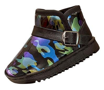 96fa15fe7efb4 Cloud Kids Botte De Neige Imperméable Enfant Camouflage Garçon Bottine  Martin Bébé Peluche Fille Épais Chaussure