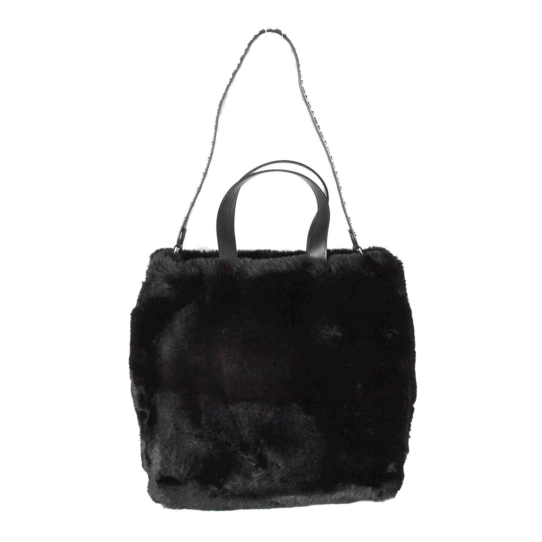 99b0ff5852 Ash SECRET Hobo Bag Black Faux Fur One Size BLACK.  Amazon.co.uk  Shoes    Bags