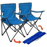 Granit Venedik Katlanır Kamp Sandalyesi 2 Adet Mavi P208