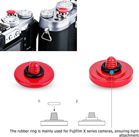 Alloy Camera Shutter Release Button for Fuji X Series Camera with Rubber Ring TG