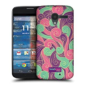 TopFshion Designs Purple and Pink Vivid Swirls Protective Snap-on Hard Back Case Cover for Motorola Moto X