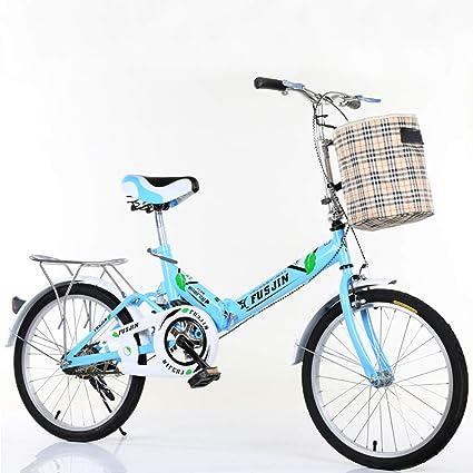 Bicicleta Plegable Para Adultos/Bicicleta De Viaje Para Estudiantes De Sexo Femenino (envíe Candado