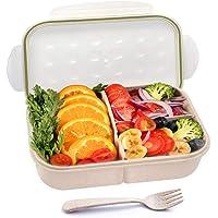 GothicBride Fiambrera Infantil con 3 Compartimentos y Cubiertos, Lunch Box Ideal para Niños o Adultos (Tenedor)