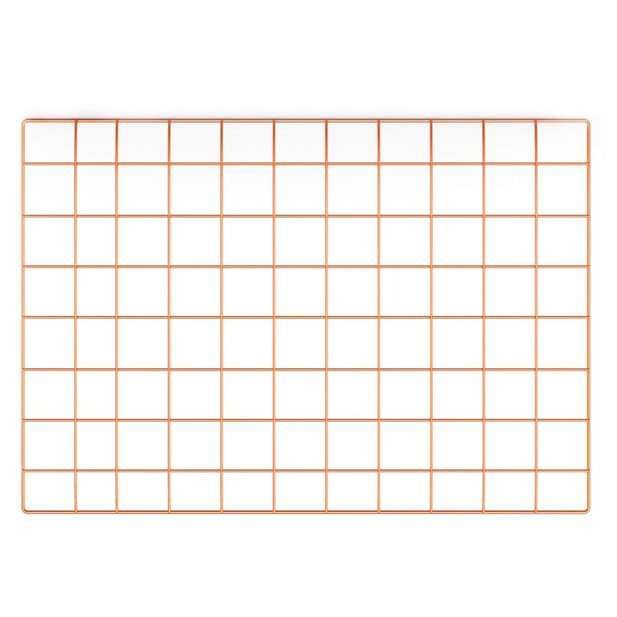 Pulatree Rose Gold Grid Photo Wall, Dorm Decor Wire Wall Grid Panel for Photo Hanging Display Metal Grid Wall Decor Organizer Grid Wall Display Wall Storage 25.6 x 17.7