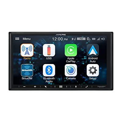 """Alpine iLX-W650 7"""" Mech-Less Receiver Compatible with Apple CarPlay and Android Auto: Car Electronics"""