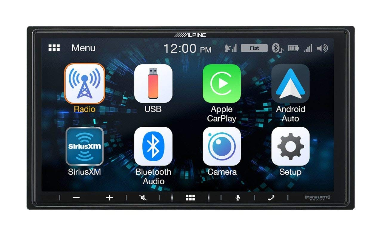 Alpine iLX-W650 7'' Mech-Less Receiver Compatible with Apple CarPlay and Android Auto by Alpine