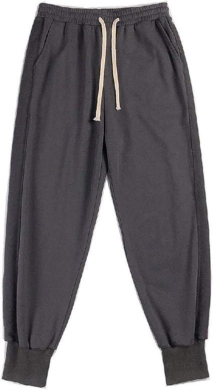 Candiyer Men Long Pants Athletic Slim-Tapered Elastic Waist Jogging Pants