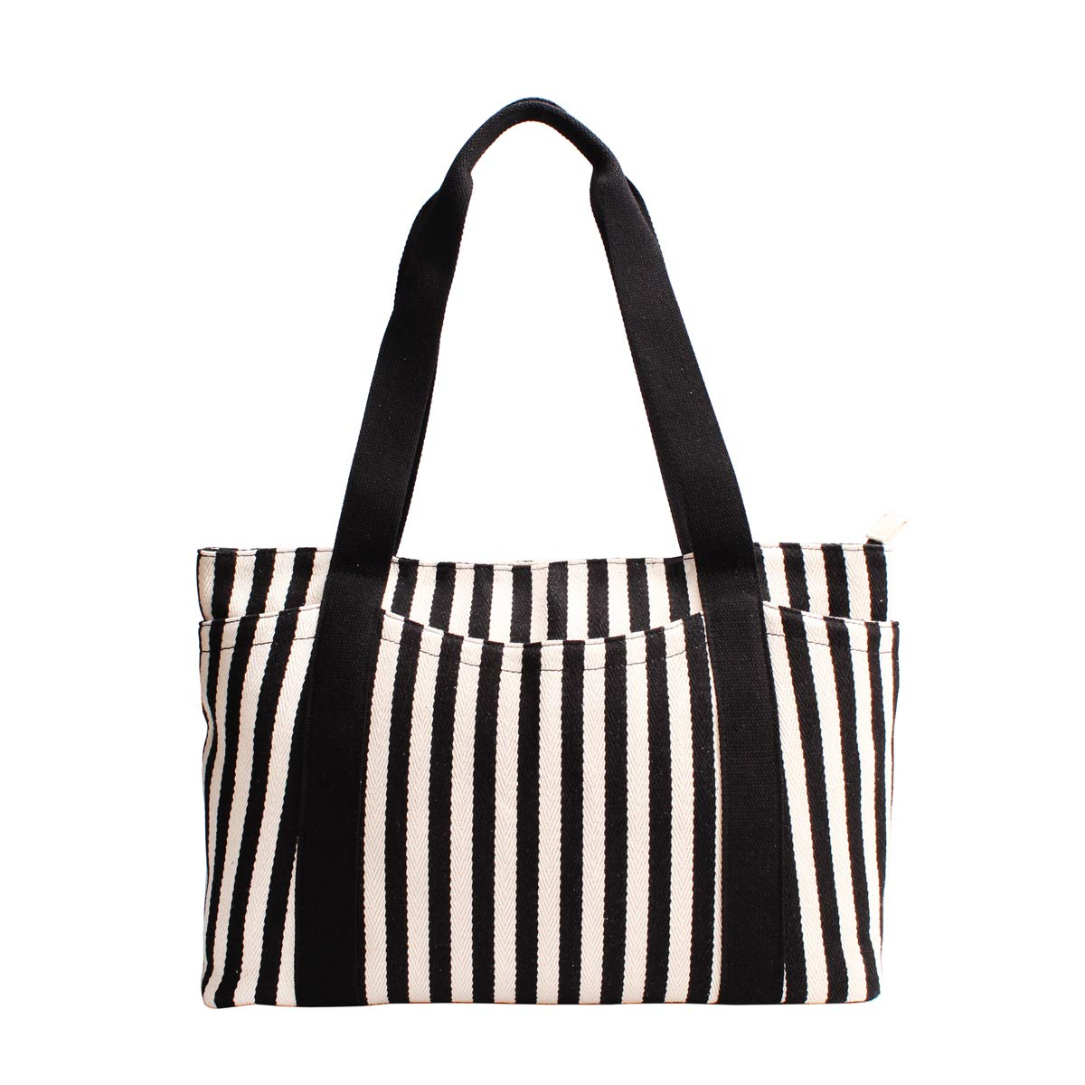 Canvas Tote Bag with Multiple Pocket/Zipper Closure Sholuder Bag/Travel Bag for Weekend/7 Pocket/Perfect Bag for Gift by sornean (Image #1)