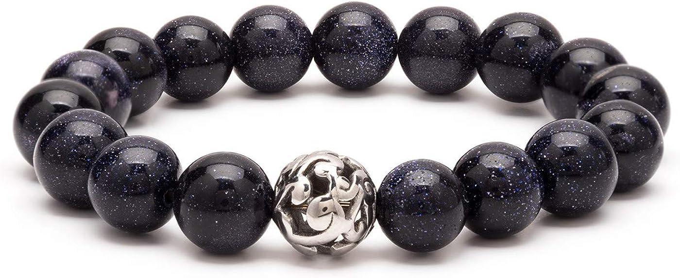 eletout Handmade 10mm Round Natural Semi PreciousGemstone Beaded Stretch Ornament Bracelets