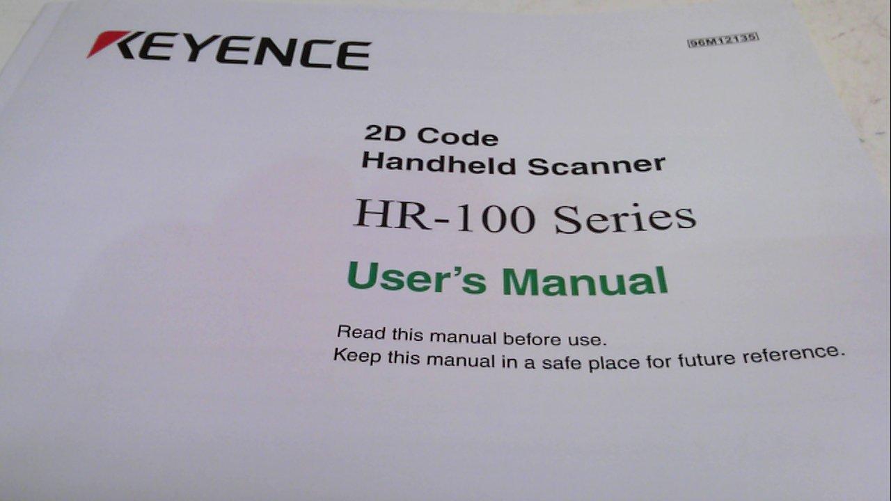 Keyence Hr-H1we, Setup Tool For Hr-100 Series Hr-H1we
