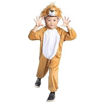 AN73 3-4 años cabeza de león traje de los tamaños del bebé trajes de bebé de niño carnaval
