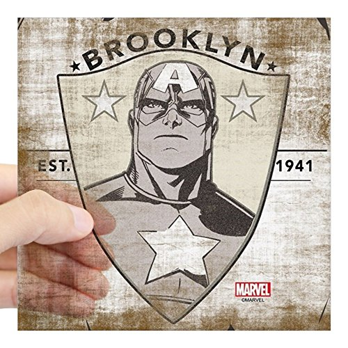 CafePress Captain America Brooklyn Se Square Sticker 3 X 3 Square Bumper Sticker Car Decal, 3