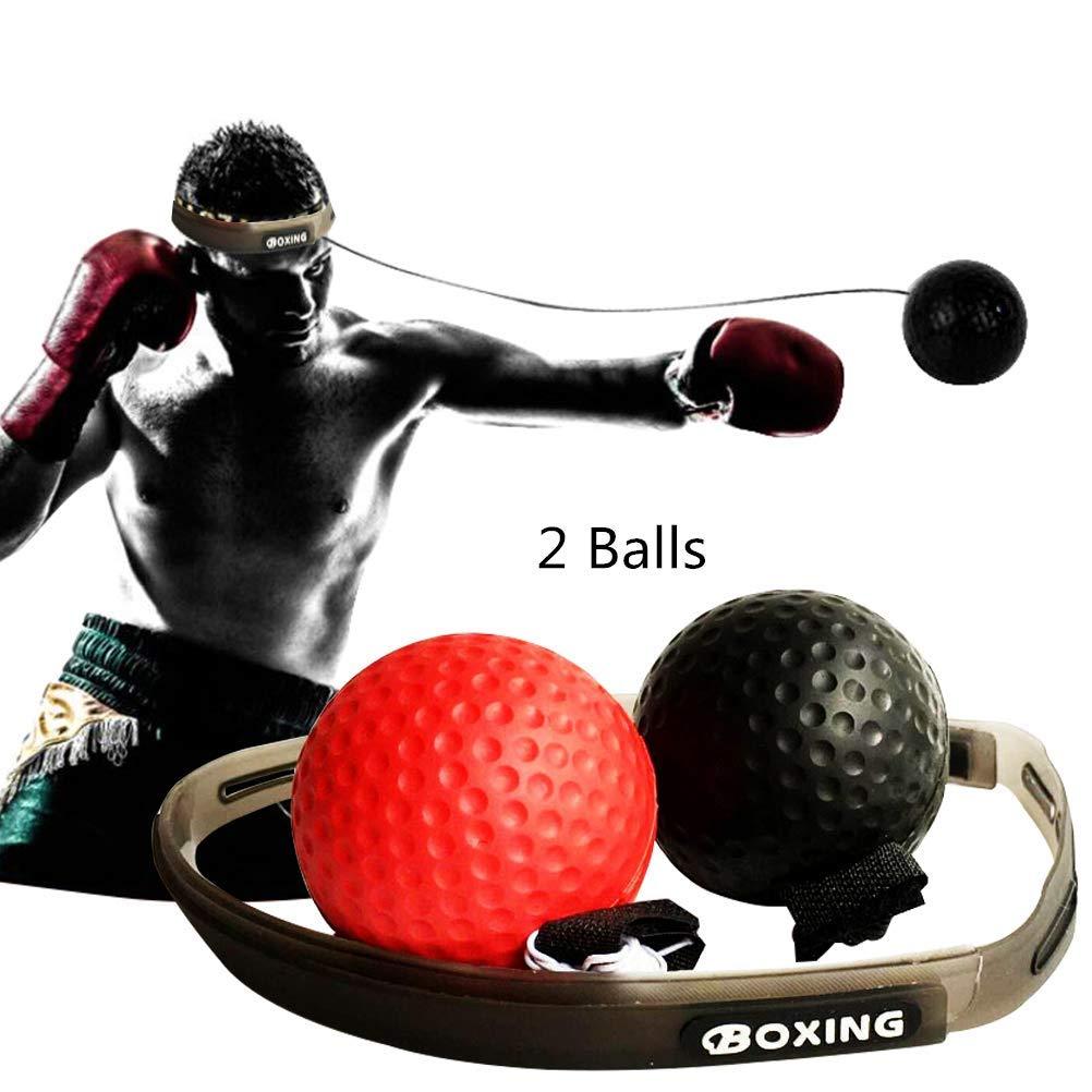 Cypin ボクシング リフレックスボール 難易度 ボクシング パンチボール 調節可能なヘッドバンド付き トレーニング スピードリアクション 向上 視覚と手の協調 大人/子供用 ジム B07QYYSKVR