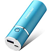 Poweradd Slim2 5000mAh Portable Charger Power Bank with Auto Detect Technology Compatible for iPhone, iPod, Samsung, Nexus, HTC and More (8pin Cable Not Included) - Blue