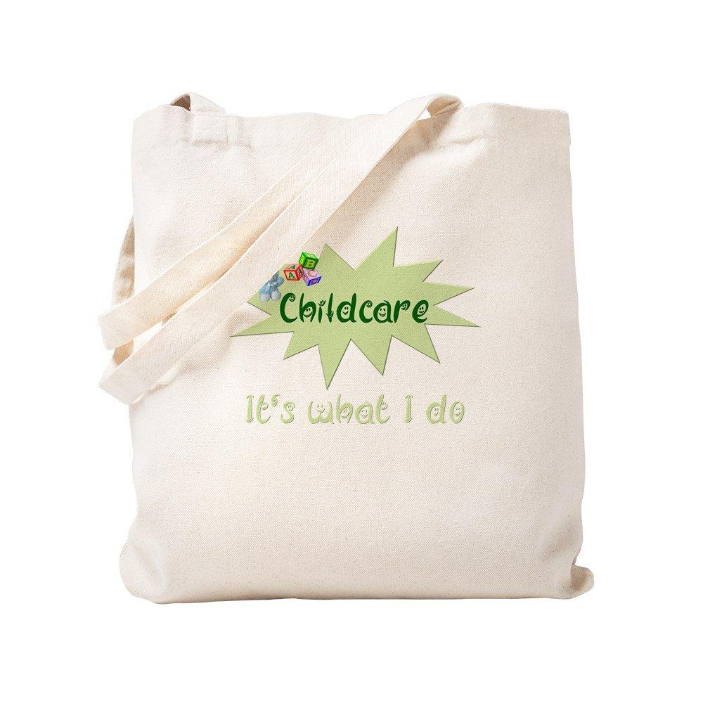 CafePress – Childcare – ナチュラルキャンバストートバッグ、布ショッピングバッグ S ベージュ 0248102507DECC2 B0773T6BJP S