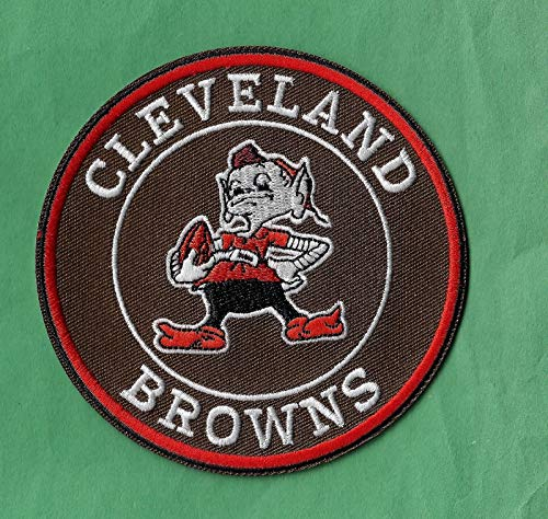 Iron On Embroidered Patch Top Quality New Cleveland Browns 'Helmet' Iron on, ()