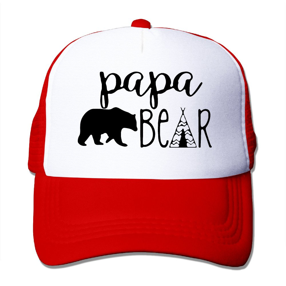 Papa Bear Infant Custom Trucker Hat One Size Fits Most Dancing Mesh Cap Adjustable