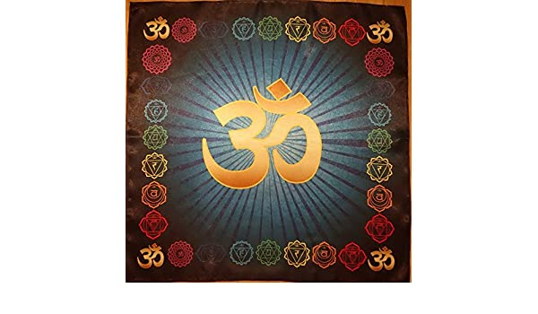OM AUM Cloth Símbolo YOGA chakra meditación Pillow Mat ...