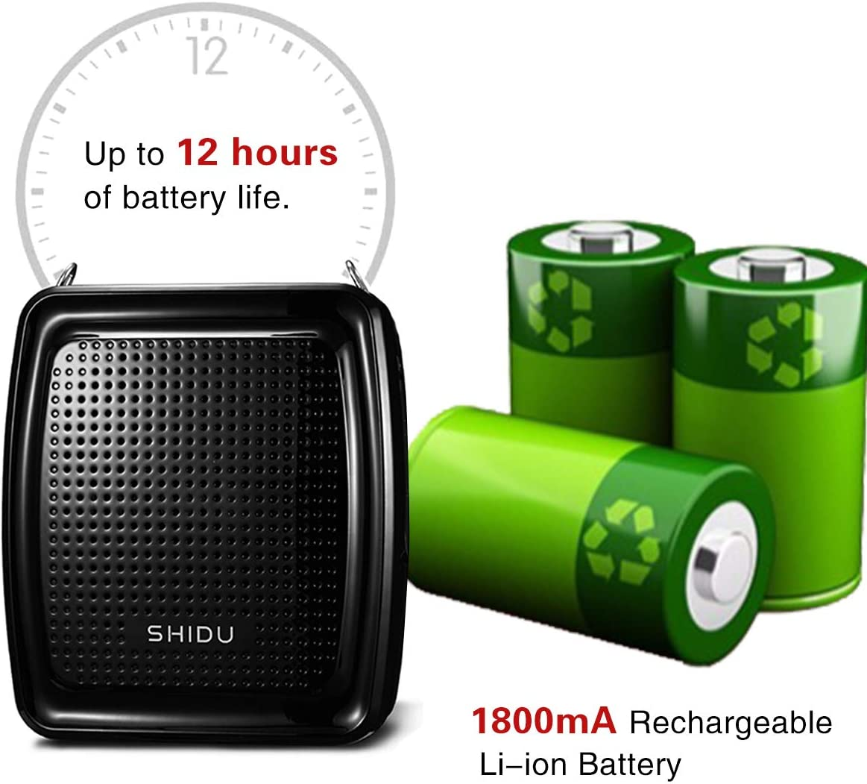 SHIDU Voice Amplifier Portable Microphone Headset with Speaker 10W ...