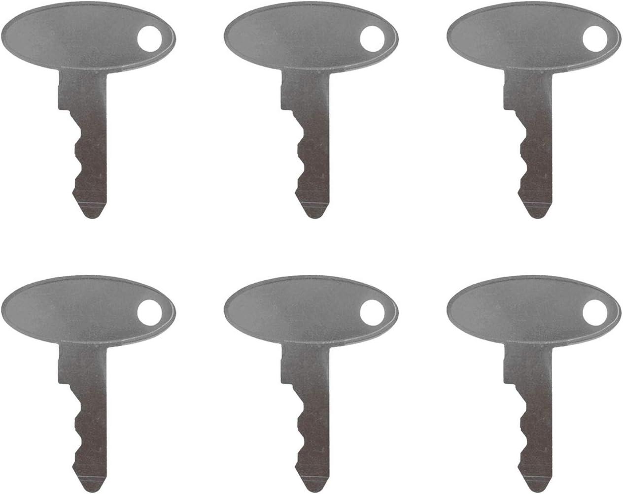 Ignition Keys 1570 for Ford New Holland Tractors TC25 TC29 TC30 TC33 L554 L565 LS140 LS150 LS170 2120 1925 1920 1752 1720 1715 1630 1620 1530 1520 1320 1300 1210 Weelparz ELI80-0089 6
