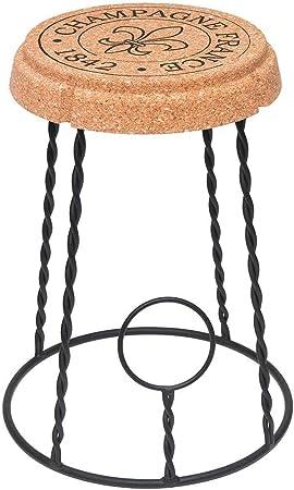 Tabouret-Table en Li/ège Moul/é Design par Mini Garibay Beat Champagne-1 Cork Series