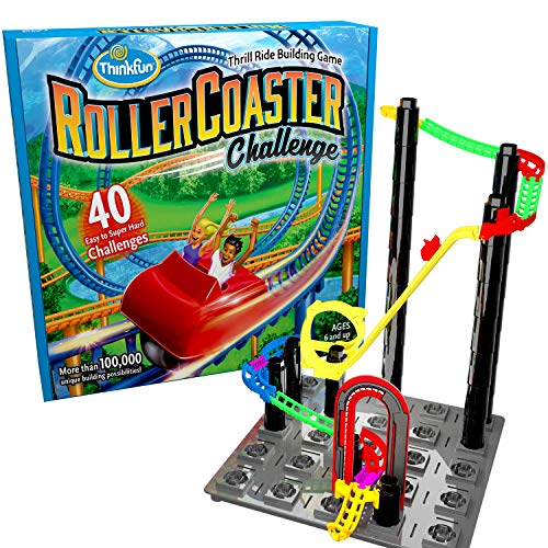 ThinkFun Roller Coaster Challenge STEM Toy and Building Game for Boys and Girls Age 6 and Up - TOTY Game of the Year Finalist (Best Roller Coaster Tycoon Game)