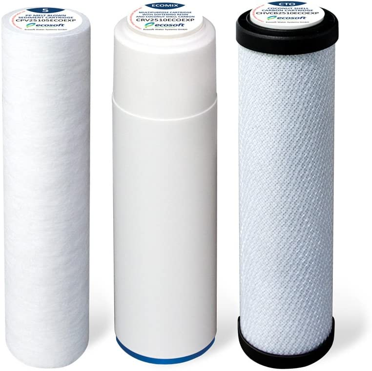Ecosoft 3-Stage Under Sink Water Filter Replacements Drinking Water Cartridge for Use 3 Stage Under-Counter Filtration
